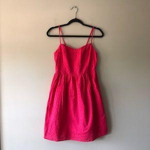 Old Navy pink sleeveless lace eyelet dress